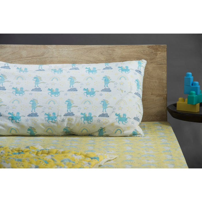 Dancing Unicorns Twin Bed Set - Sunny Side Up