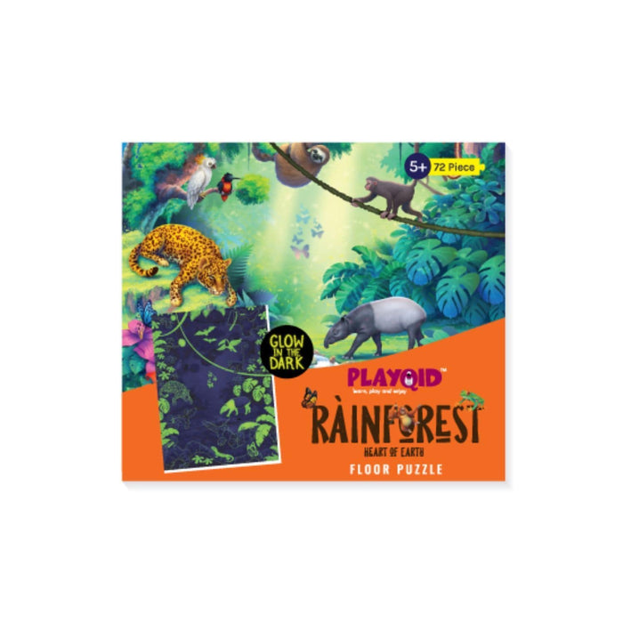 The Nestery : Playqid - Rainforest Heart Of Earth - Glow In The Dark Puzzle