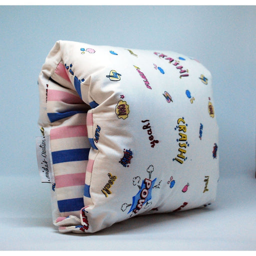 The Nestery : Bobtail - Nursing Arm Pillow - Retro Graphics With Stripes
