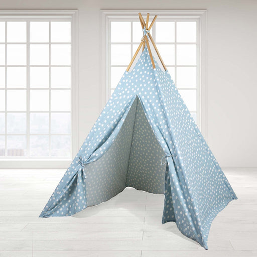 The Nestery : Role Play - Teepee Tent - Blue Base White Dot