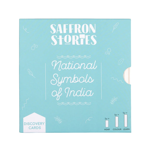 The Nestery: Saffron Stories - DISCOVERY CARDS - NATIONAL SYMBOLS OF INDIA - Early learning flashcards