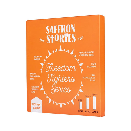 The Nestery: Saffron Stories - INDSIGHT CARDS - FREEDOM FIGHTER SERIES - Early learning flashcards