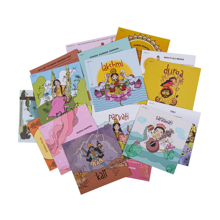 The Nestery: Saffron Stories - INDSIGHT CARDS - GODDESS SERIES - Early learning flashcards