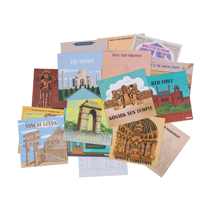 The Nestery: Saffron Stories - INDSIGHT CARDS - MONUMENTS SERIES - Early learning flashcards