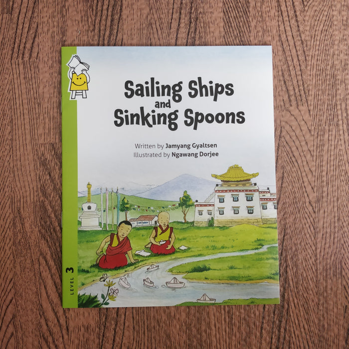 Description: Tenzin and Tashi, two young Tibetan monks, and Genla, the beloved storyteller of the monastery, wonder why a small steel spoon sinks in water but a huge ship floats. Their science teacher Miss Sonam helps them experiment with an apple, a spoon and a tub-full of water to learn more about objects that float.