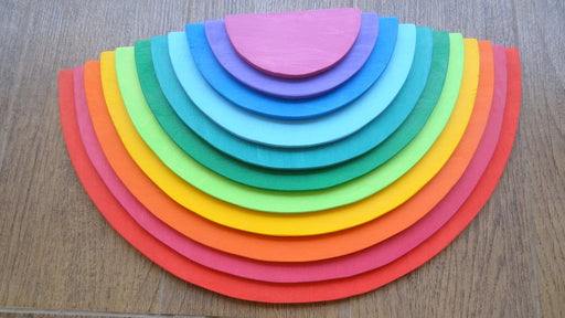 RAINBOW SEMI-CIRCLE STACKER (COLOURED) - 12