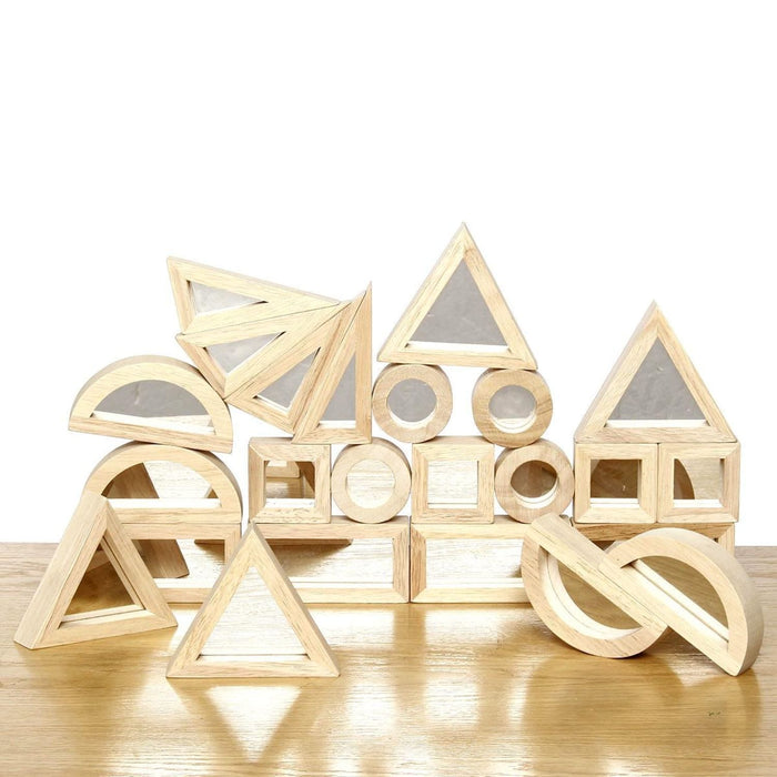 The Nestery: Sensory Play Co - Mirror Blocks (24 Pcs)