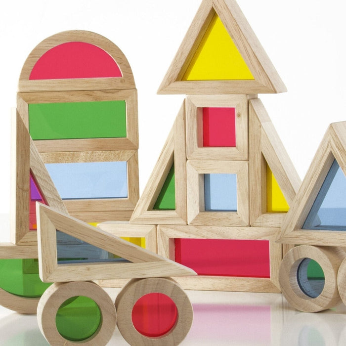 The Nestery: Sensory Play Co - Rainbow Blocks (24 Pcs)