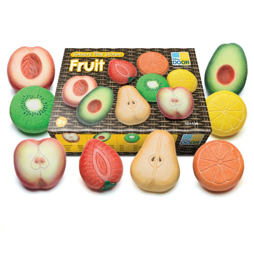 The Nestery : Sensory Play Co. - Sensory-Play-Co-Sensory-Stones-Fruits-Set-Of-8