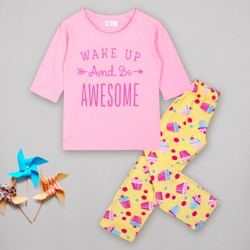 The Nestery : Sheer Love - Wake Up And Be Awesome Reglan Sleeves - Full Pyjamas Set