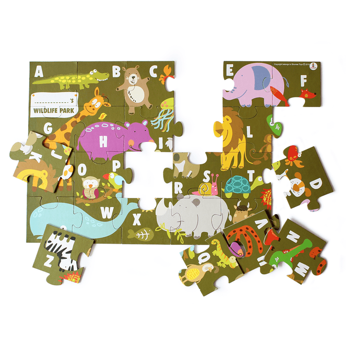 The Nestery: Shumee - ANIMAL ALPHA PUZZLE