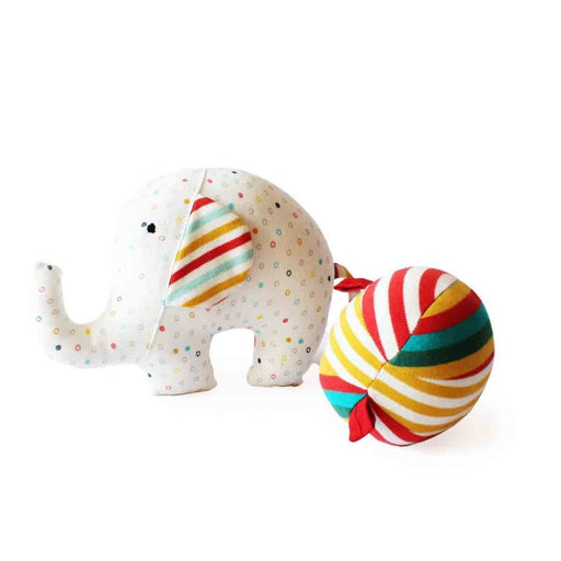 The Nestery: Shumee - Ele And Ball Rattle Organic Plush Toy
