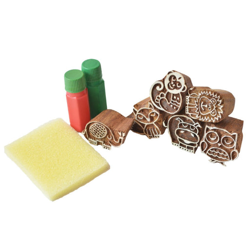 The Nestery: Shumee - Forest Friends Wooden Stamps Set