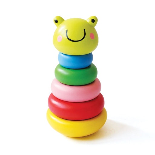 The Nestery: Shumee - FROG WOODEN STACKER