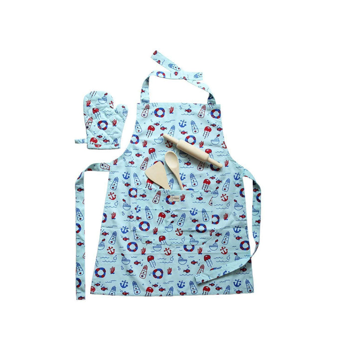 The Nestery: Shumee - Lil Chef'S Apron Set- Naughty Nautical