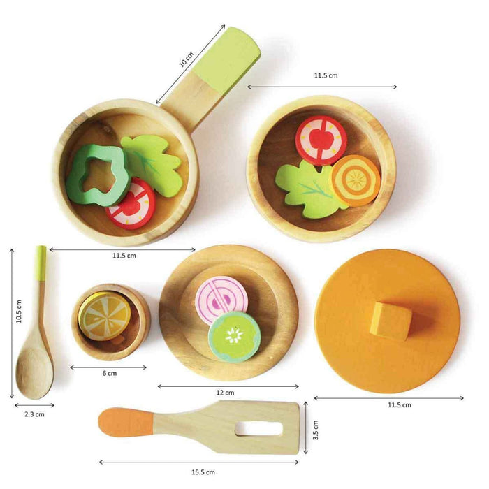 The Nestery: Shumee - Lil Chef'S Wooden Cooking Set