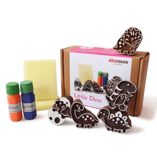 The Nestery: Shumee - Little Dino Wooden Stamps Set