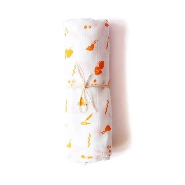 The Nestery: Shumee - ORGANIC MUSLIN SWADDLE - DUCK