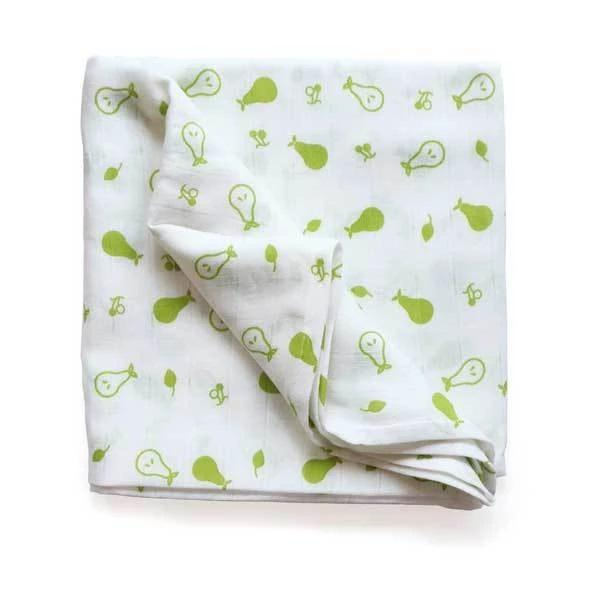 The Nestery: Shumee - ORGANIC MUSLIN SWADDLE - PEAR