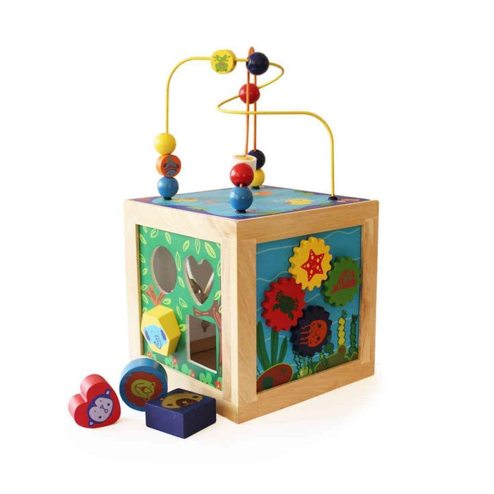 The Nestery: Shumee - Wooden 5 In 1 Animal Habitat Activity Cube