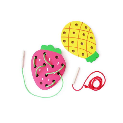 The Nestery: Shumee - Wooden Lacing Fruit Set - Set Of 2
