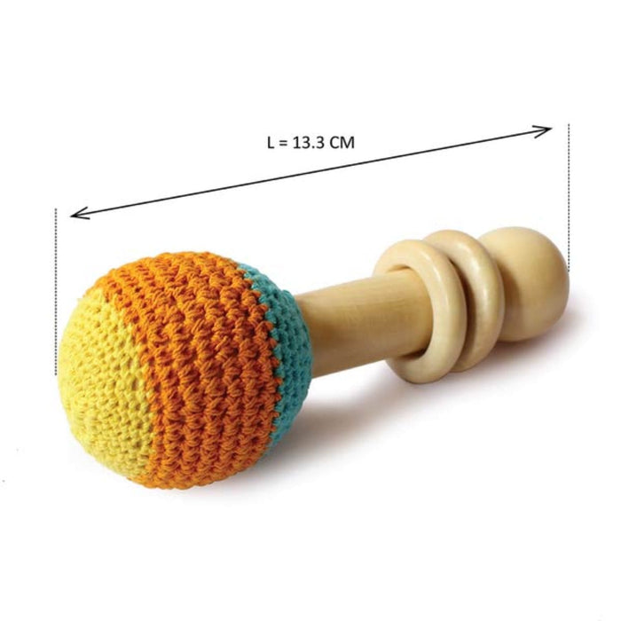 The Nestery: Shumee - Wooden Non-Toxic Crochet Shaker Rattle Toy