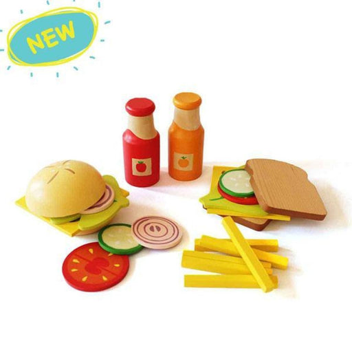 The Nestery: Shumee - Wooden Sandwich And Burger Set