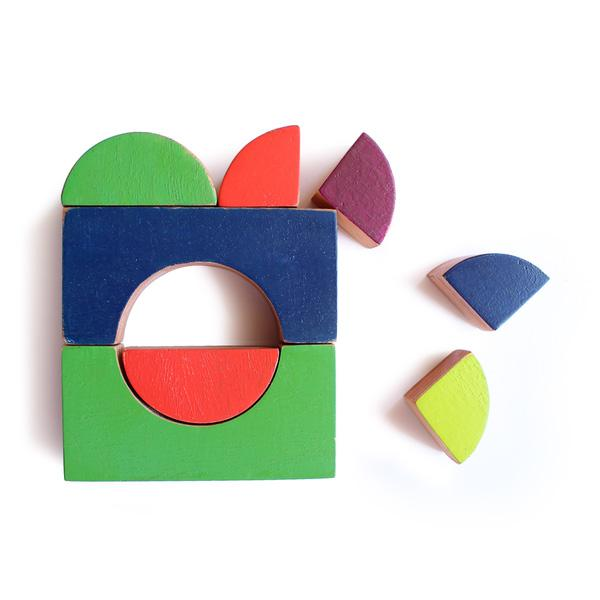 The Nestery: Shumee - WOODEN MULTISHAPE CHALK-O-BLOCKS SET