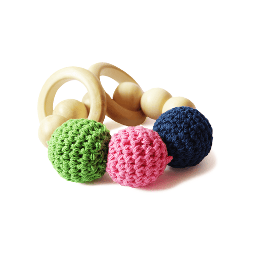 The Nestery: Shumee - WOODEN TEETHER AND RATTLE RINGS