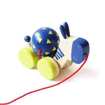 The Nestery: Shumee - ZEEBO WOODEN PULL-ALONG TOY