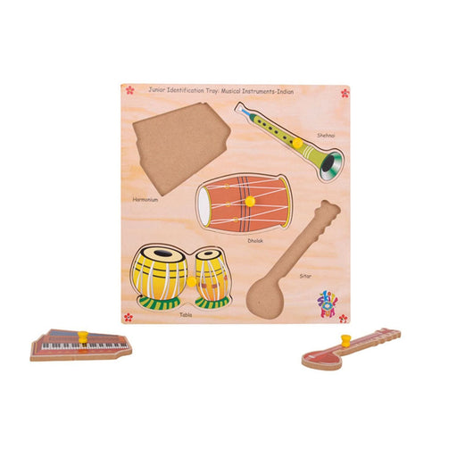 The Nestery : Skillofun - Junior Identification Tray - Indian Musical Instruments