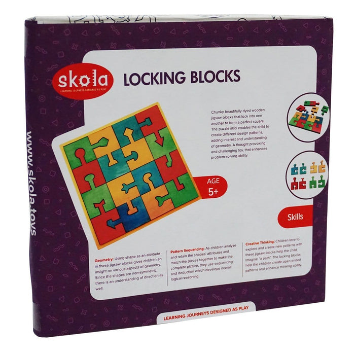 The Nestery: Skola - LOCKING BLOCKS