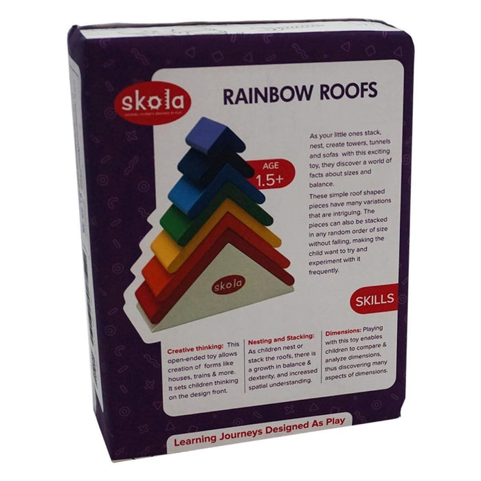 The Nestery: Skola - RAINBOW ROOFS