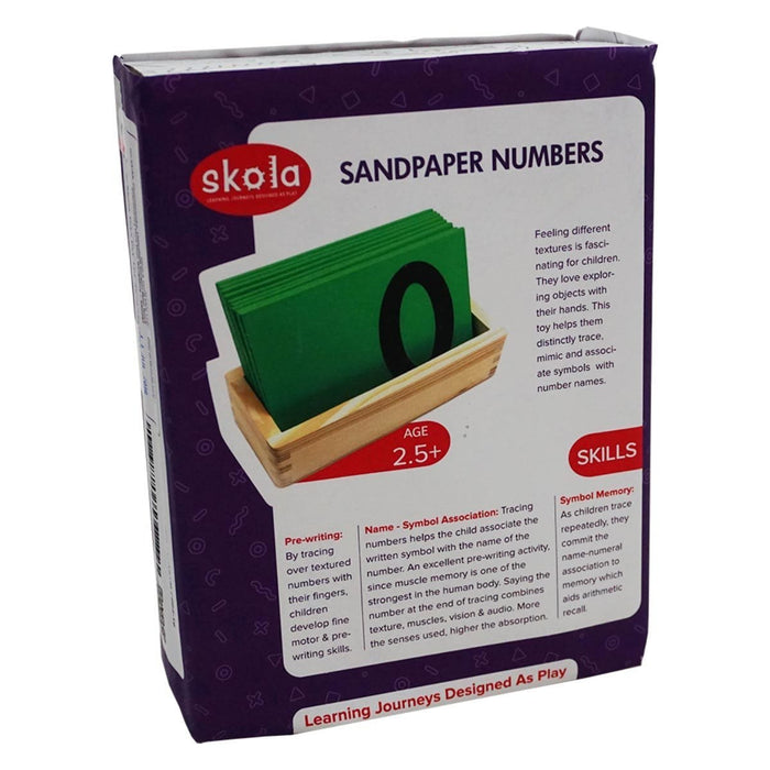 The Nestery: Skola - SANDPAPER TRACING NUMBERS