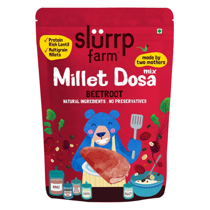 The Nestery: Slurrp Farm - Millet Dosa Instant Mix - Supergrains And Beetroot