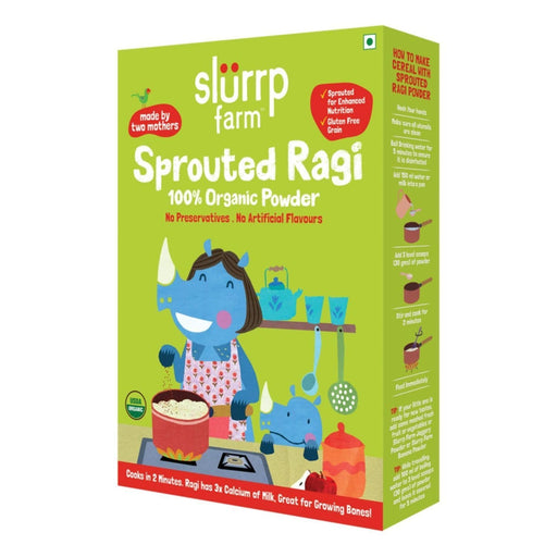 The Nestery: Slurrp Farm - Organic Sprouted Ragi Powder