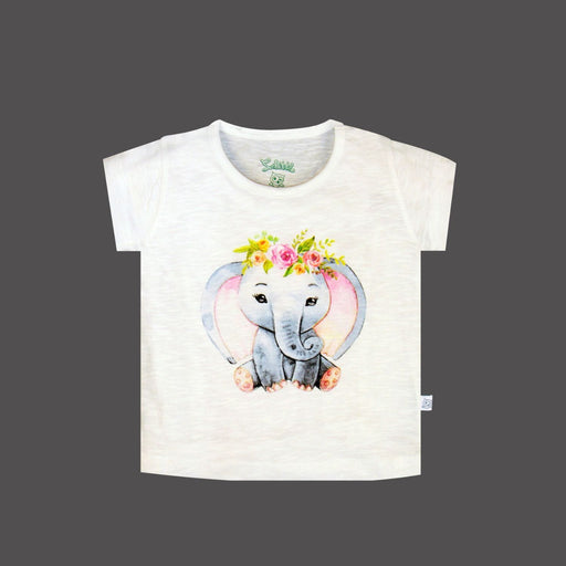 The Nestery : So Little - Elephant Chest Printed T-Shirt