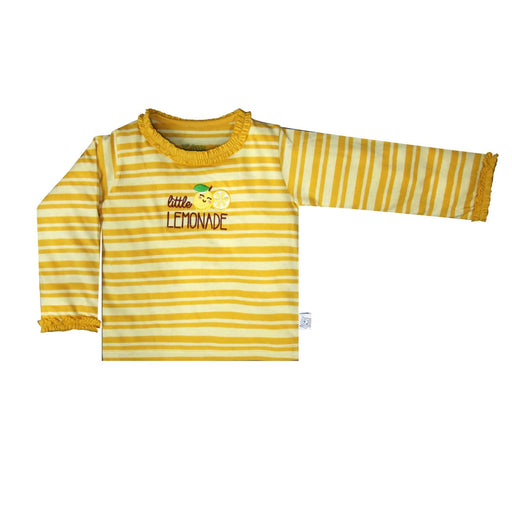 The Nestery : So Little - Little Lemonade Embroidered Striped T-Shirt