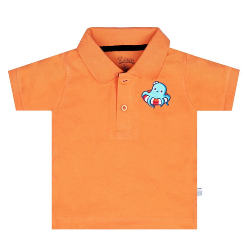 The Nestery : So Little - Octopus Embroidered Polo T-Shirt