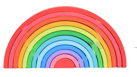12 piece coloured rainbow stacker - Large