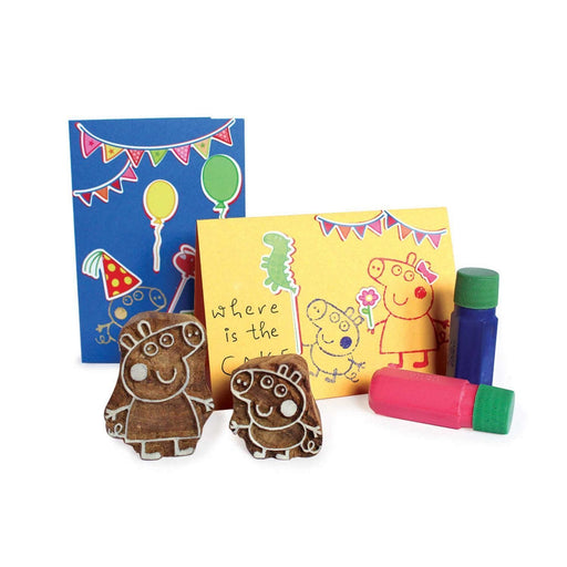 The Nestery: Shumee - Peppa Wooden Stamps And Sticker Diy Set