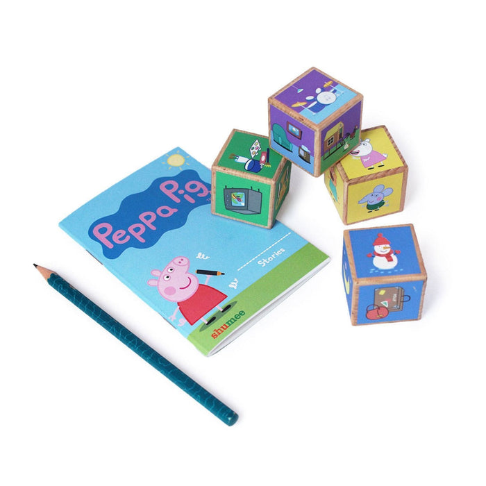 The Nestery: Shumee - Peppa Wooden Story Telling Stacking Cubes Toy Set