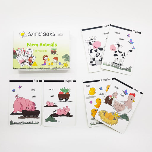 The Nestery : Summer Stories - Farm Animals Flash Cards