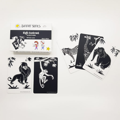 The Nestery : Summer Stories - Newborn High Contrast Flash Cards - Black & White