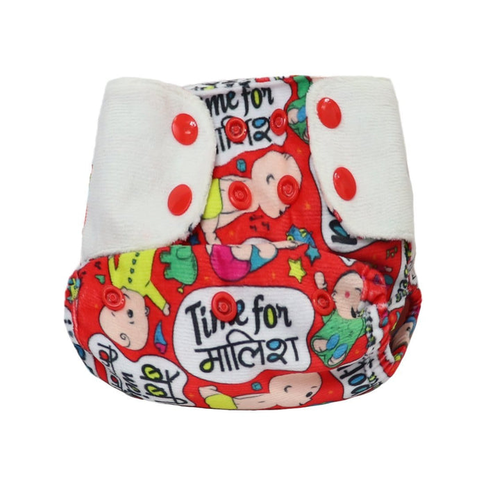 "The Nestery: Supperbottoms - SUPERSOFT COVER DIAPER ""EASY TABS"" WITH 1 DRY-FEEL SOAKER - BABY TALK"