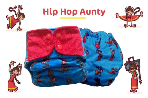 "The Nestery: Supperbottoms - SUPERSOFT COVER DIAPER ""EASY TABS"" WITH 1 DRY-FEEL SOAKER - HIP HOP AUNTY"