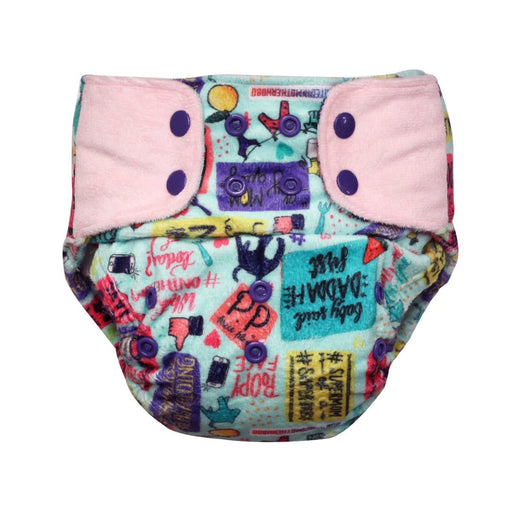 "The Nestery: Supperbottoms - SUPERSOFT COVER DIAPER ""EASY TABS"" WITH 1 DRY-FEEL SOAKER - MOMMY TALK"