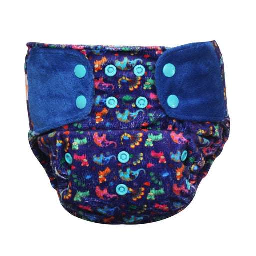 "The Nestery: Supperbottoms - SUPERSOFT COVER DIAPER ""EASY TABS"" WITH 1 DRY-FEEL SOAKER - PURPLE LOVE"