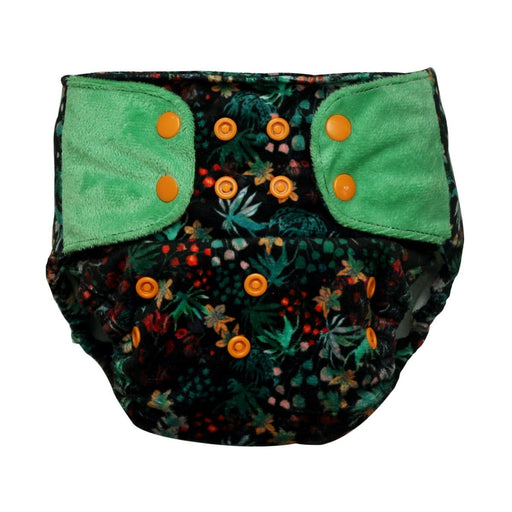 "The Nestery: Supperbottoms - SUPERSOFT COVER DIAPER ""EASY TABS"" WITH 1 DRY-FEEL SOAKER - SHRUBBERY"