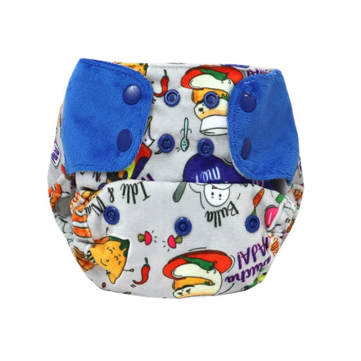 "The Nestery: Supperbottoms - SUPERSOFT COVER DIAPER ""EASY TABS"" WITH 1 DRY-FEEL SOAKER - WANDERING FOODIE"